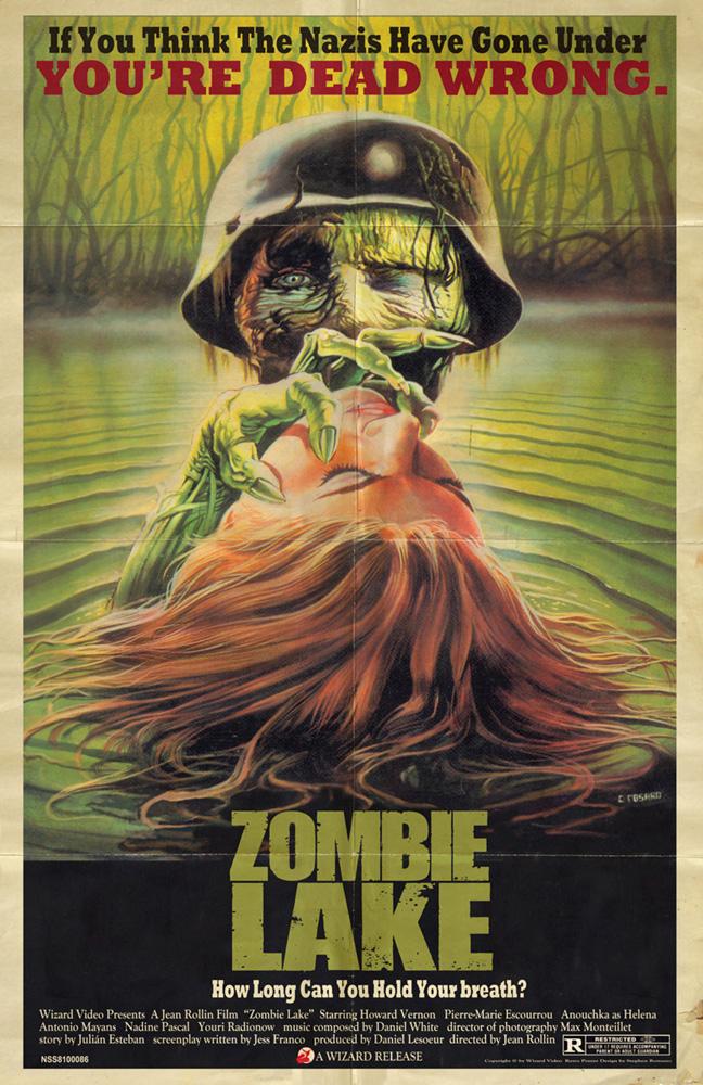Zombie Lake</br>(retro poster)